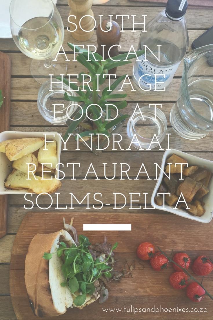 fyndraai restaurant solms-delta